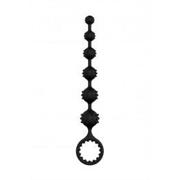 Анальная цепочка S-HANDE TOTO, силикон, чёрная, 22,6 см