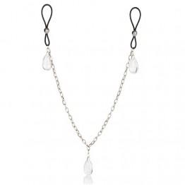 Зажимы на соски и половые губы Зажимы на соски Nipple Play Non-Piercing Nipple Chain Jewelry Crystal