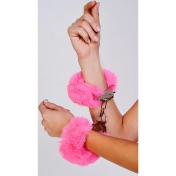 Шикарные наручники с пушистым розовым мехом (Be Mine) (One Size)