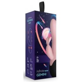 Нагреваемый вибратор кролик Gemini, цвет персиковый (INFINITE collection) (One Size)