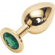 GOLDEN PLUG LARGE (втулка анальная) цвет кристалла зелёный, L 95 мм, D 40 мм, арт. GL-07