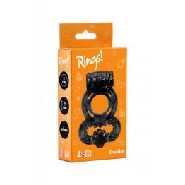 Эрекционное кольцо Rings Treadle black 0114-62Lola