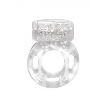 Эрекционное кольцо с вибрацией Rings Axle-pin white 0114-80Lola