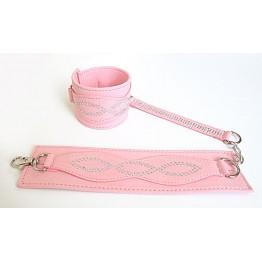 НАРУЧНИКИ цвет розовый, (текстиль) арт. MLF-90047-6