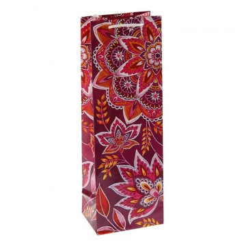 Пакет подарочный под бутылку Арабеска, 36 х 12 х 8.5 см   1929138
