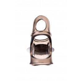 Виброкольцо Toyfa XLover, черное, прозрачное