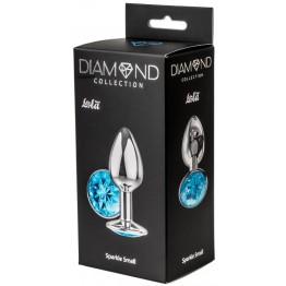 Анальная пробка Diamond Light blue Sparkle Small 4009-04Lola