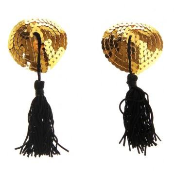 Аксессуар стикини Сердечко с кисточкой золото ( набор 2 шт) 301925
