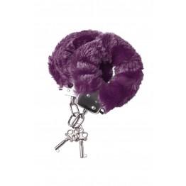 Наручники меховые фиолетовые 951035