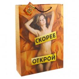 Пакет подарочный Скорее открой интим