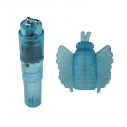 ВИБРОМАССАЖЁР ROCKET TICKLERS BUTTERFLY VIBE синий, TPE арт. 23003