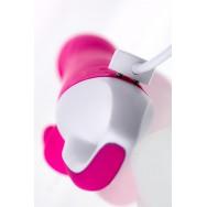 Вибратор с клиторальным стимулятором JOS ELLY, с подогревом, силикон, розовый, 21,5 см