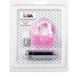Вибронасадка TOYFA, TPE, розовый, 3 см