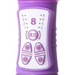 Вибратор с клиторальным стимулятором High-Tech fantasy, TPE, Фиолетовый, 22,5 см