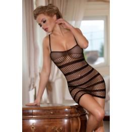 Платье-сетка Candy Girl с полосками, черное, OS