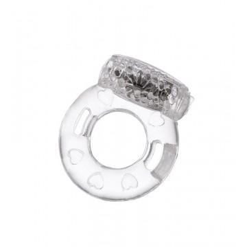 Виброкольцо TOYFA, TPE, прозрачный 818034-1
