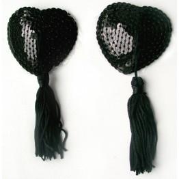 ПЭСТИСЫ цвет черный, (текстиль) арт. MLF-90004-1