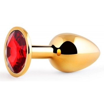GOLDEN PLUG SMALL (втулка анальная) цвет кристалла красный, L 72 мм, D 28 мм, вес 50г, арт. GS-16