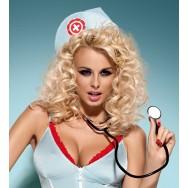 Костюм Doctor dress + стетоскоп (S\M, голубой)