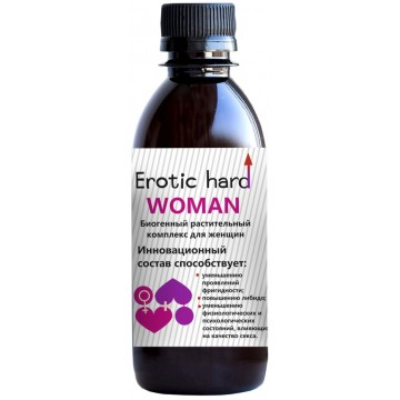 Концентрат биогенный для женщин Erotic hard для повышения либидо и сексуальности, 250 мл