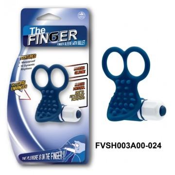 Вибронасадка на пальцы, синяя