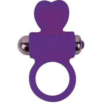 КОЛЬЦО ЭРЕКЦИОННОЕ С ВИБРАЦИЕЙ D 30 мм, цвет фиолетовый арт. ST-40133-5