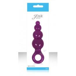 Анальная пробка Jolie - Ripples средняя фиолетовая