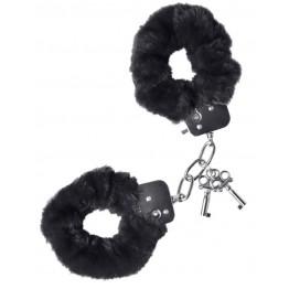 Наручники Штучки-дрючки меховые черные