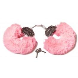 Шикарные наручники с пушистым мехом пастельно розового цвета  (Be Mine) (One Size)