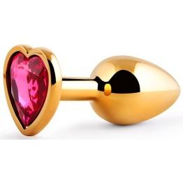 ВТУЛКА АНАЛЬНАЯ ЗОЛОТАЯ, L 70 мм D 28 мм, вес 50 г, цвет кристалла рубиновый арт. SCHG-14