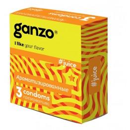 ПРЕЗЕРВАТИВЫ GANZO JUICE №3 (цветные ароматизированные: банан, клубника, тутти-фрутти)