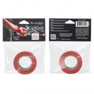 Скотч - лента красная (2,5см ширина, 15м длина)  Scandal Lovers Tape - Red