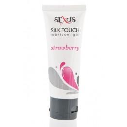 Гель-лубрикант на водной основе с ароматом клубники Silk Touch Stawberry 50 мл