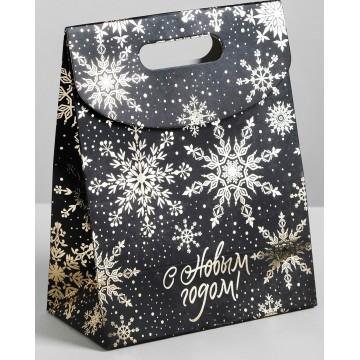 Пакет с клапаном Чудесного Нового года, 12 х16 х6 см.   4320138
