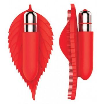 ВИБРОМАССАЖЁР L 125 мм ширина 60 мм, цвет красный арт. ST-40144-3