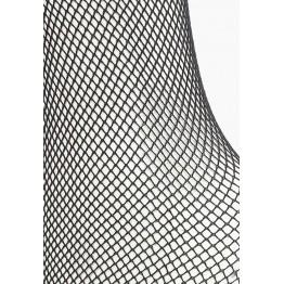 Чулки с красной кружевной резинкой на силиконе (Sense) (SM)