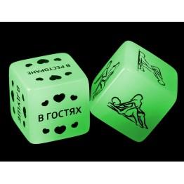 Кубики неоновые 50 оттенков страсти. Смелые фантазии, 2 шт