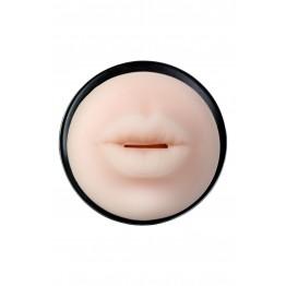 Мастурбатор,черный/телесный, рот, TOYFA A-Toys,24cm, 7,6 cm