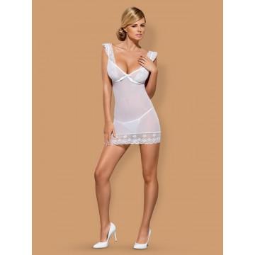 сорочка  и трусики  Julitta (L-XL, белый)
