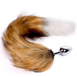 Хвост Fox Tail Plug Brown & White - Short OPR-3330026