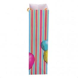 Пакет ламинированный под бутылку Воздушный День Рождения, 13 х 36 х 10 см   1830894