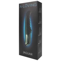 Вибромассажёр JAGUAR 10 режимов вибрации, 10 режимов пульсации, L 237 мм D 37 мм цвет чёрный арт. 20