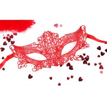 МАСКА АЖУРНАЯ МАРЛЕН цвет красный, текстиль арт. EE-20359-3