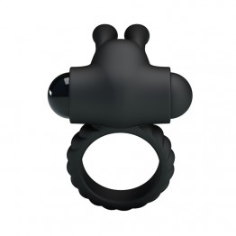 НАСАДКА С ВИБРАЦИЕЙ EUDORA (кольцо эрекционное) цвет чёрный арт. BI-026219