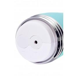 Вибратор с клиторальным стимулятором Flovetta by Toyfa Iris, силиконовый, мятный, 22 см